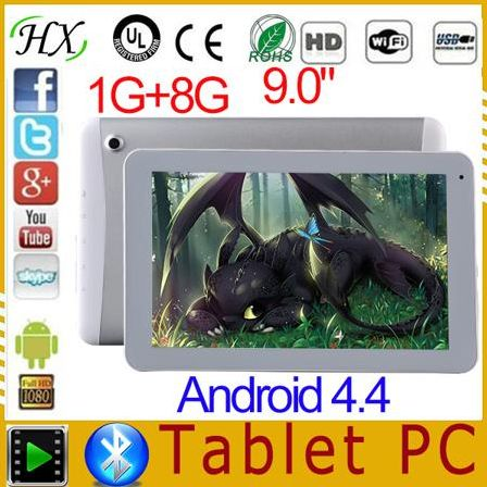 Планшетный ПК HB-AM904 2015 9/ips 3G MTK8382 1 8GB Android 4.4 WCDMA/GSM
