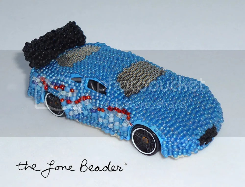 hot wheels matchbox recycled art car seed beads peyote stitch ebay etsy