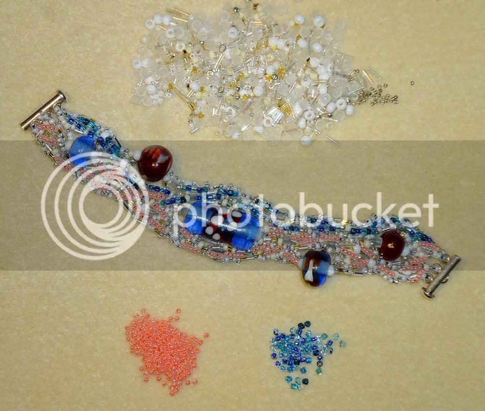 freeform beadwork peyote stitch beading etsy jewelry bracelet cuff lampwork beads