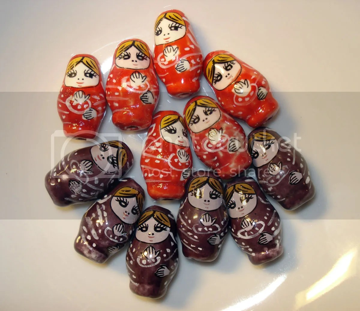 Beadcrafty.com Porcelain Russian Doll Beads