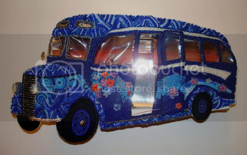 psychedelic British blue beaded bus The Doors The End