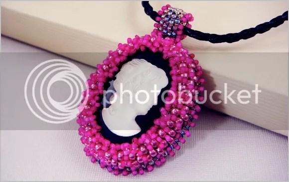 Boston Bead Company bead embroidery cameo Valentines Day beading workshop Cambridge MA