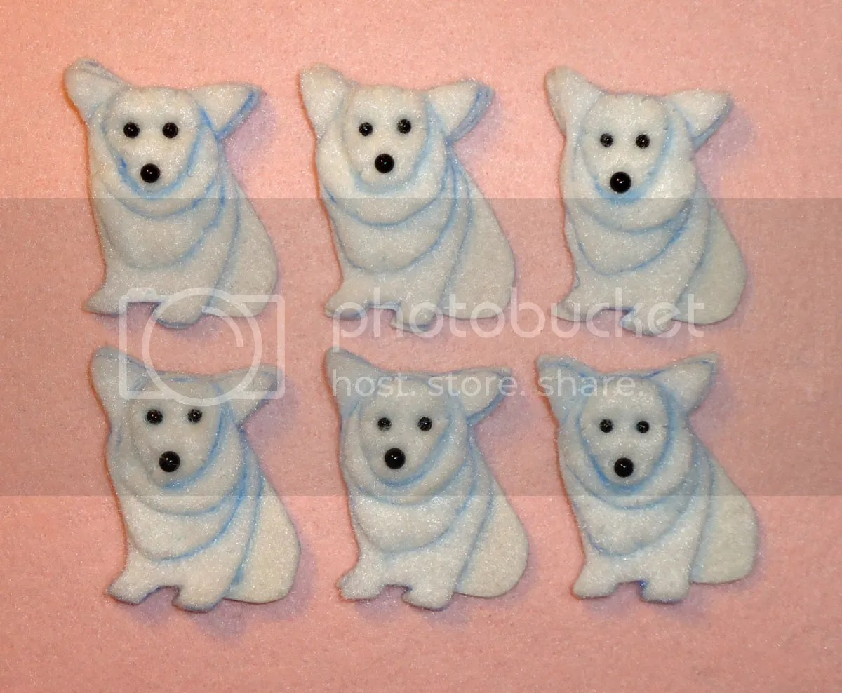 felt corgi dog pin pendants bead embroidery workshop Boston Bead Company Salem MA  beading class beadwork