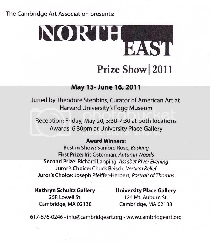 Cambridge Art Association's Northeast Prize Show 2011. Harvard Square, MA.