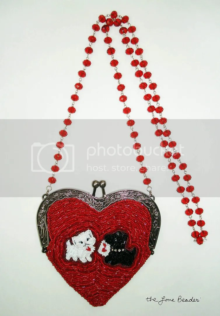 beaded heart-shaped purse bead embroidery etsy custom order cat Scottie Dog