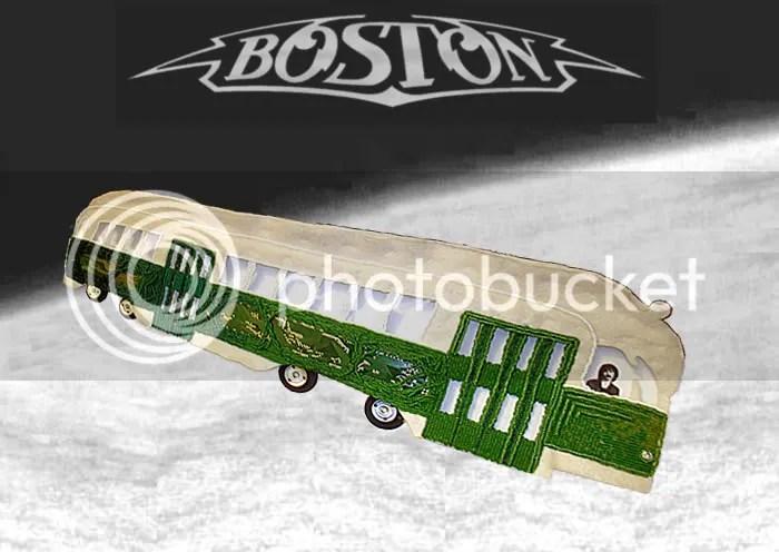 Beaded Boston band Mbta trolley T train launch space shuttle Brad Delp Tribute long time pop art PCC