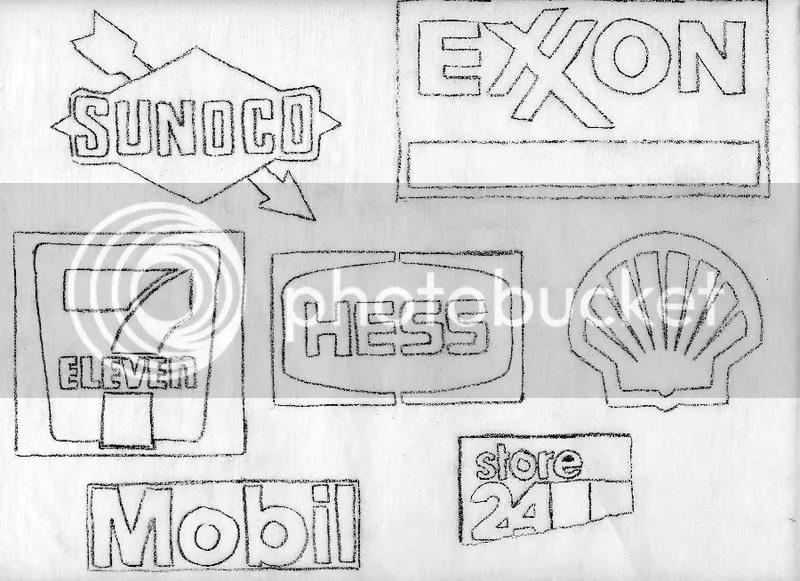 Gasoline Price high petrol fuel beaded sign pop art roadside Boston bead embroidery artist beading sketch