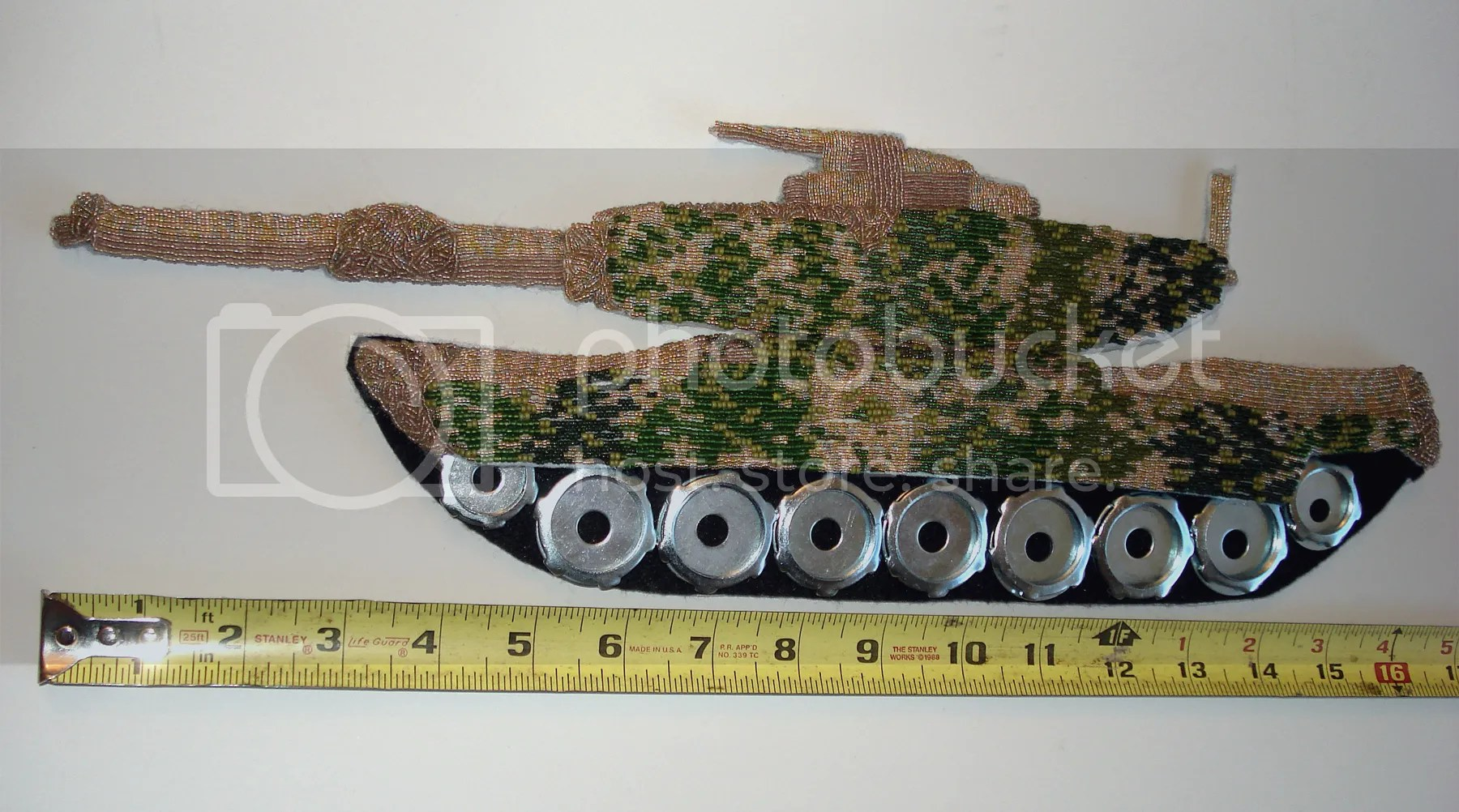 beaded camo camouflage print military Afghanistan Boston artist U.S. pop art war bead embroidery