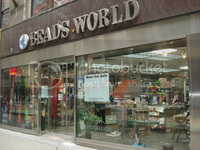 traveling beads bead shops NYC Manhattan New York City thelonebeader bead shopping Toho seed beads