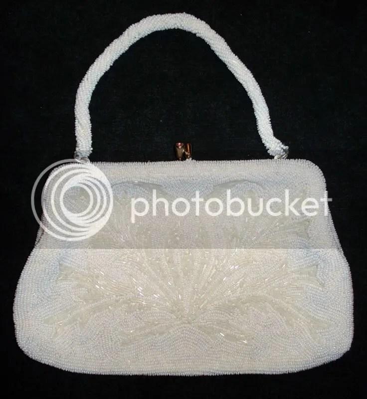 antique beaded handbag bead embroidery Czech glass seed beads Japanese Japan Czechoslovakia