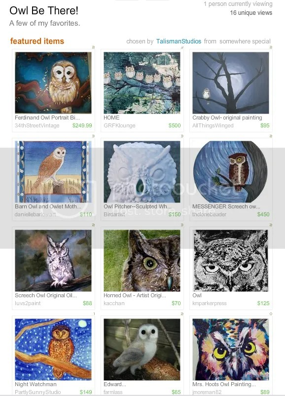 beaded owl bird paintings etsy treasury thelonebeader featured artist beadwork bead embroidery