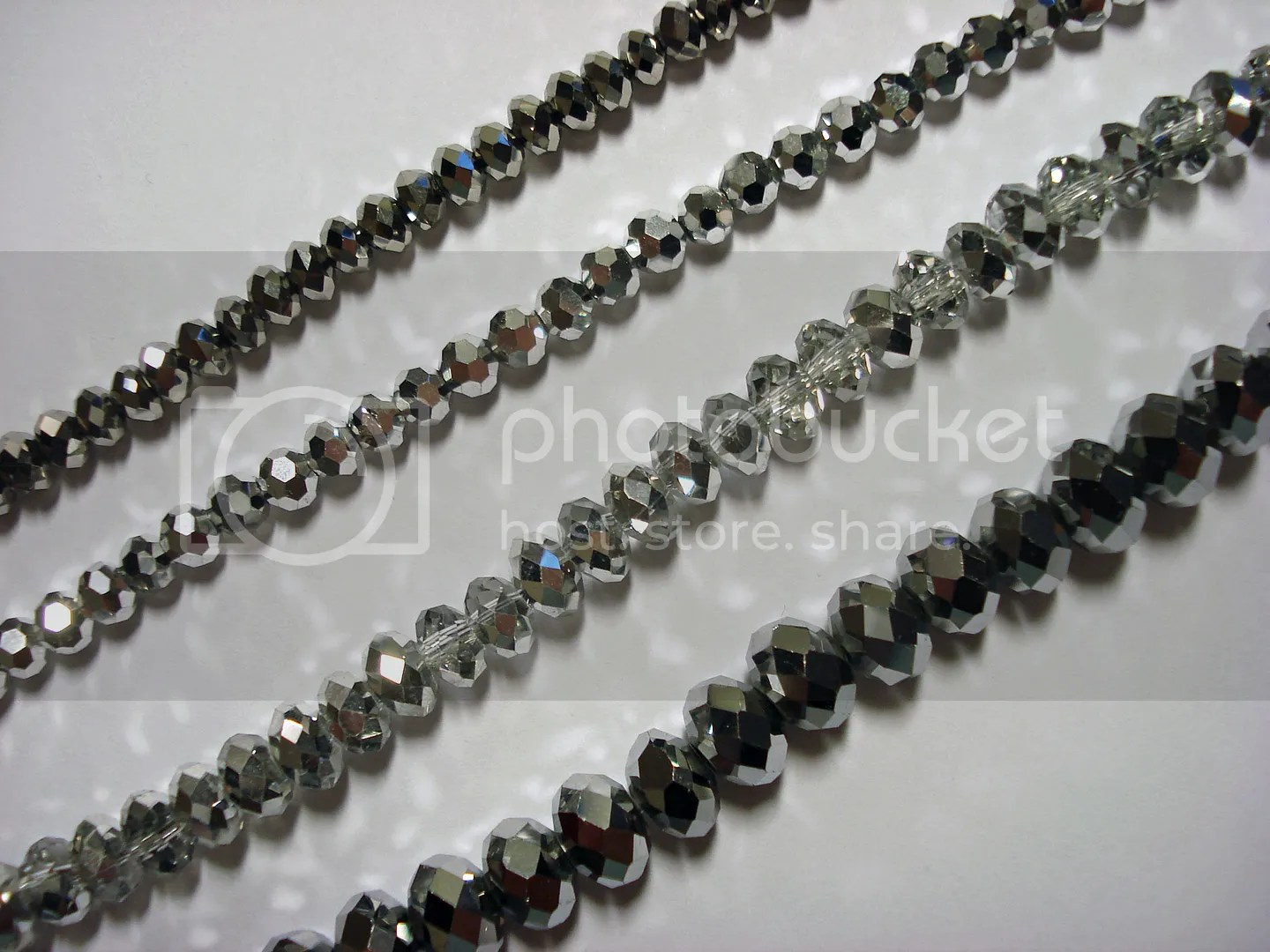 Auntie's beads Silver Chinese Crystal Rondelle Bead Strands