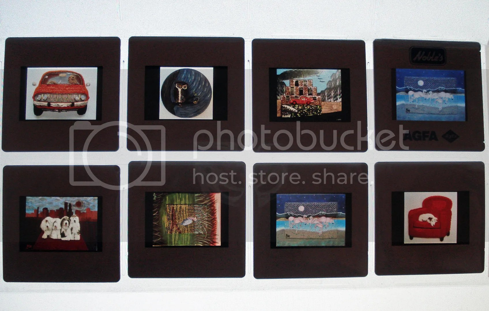 how to recycle recycled 35mm photo slides beadwork art bead embroidery exhibition entries