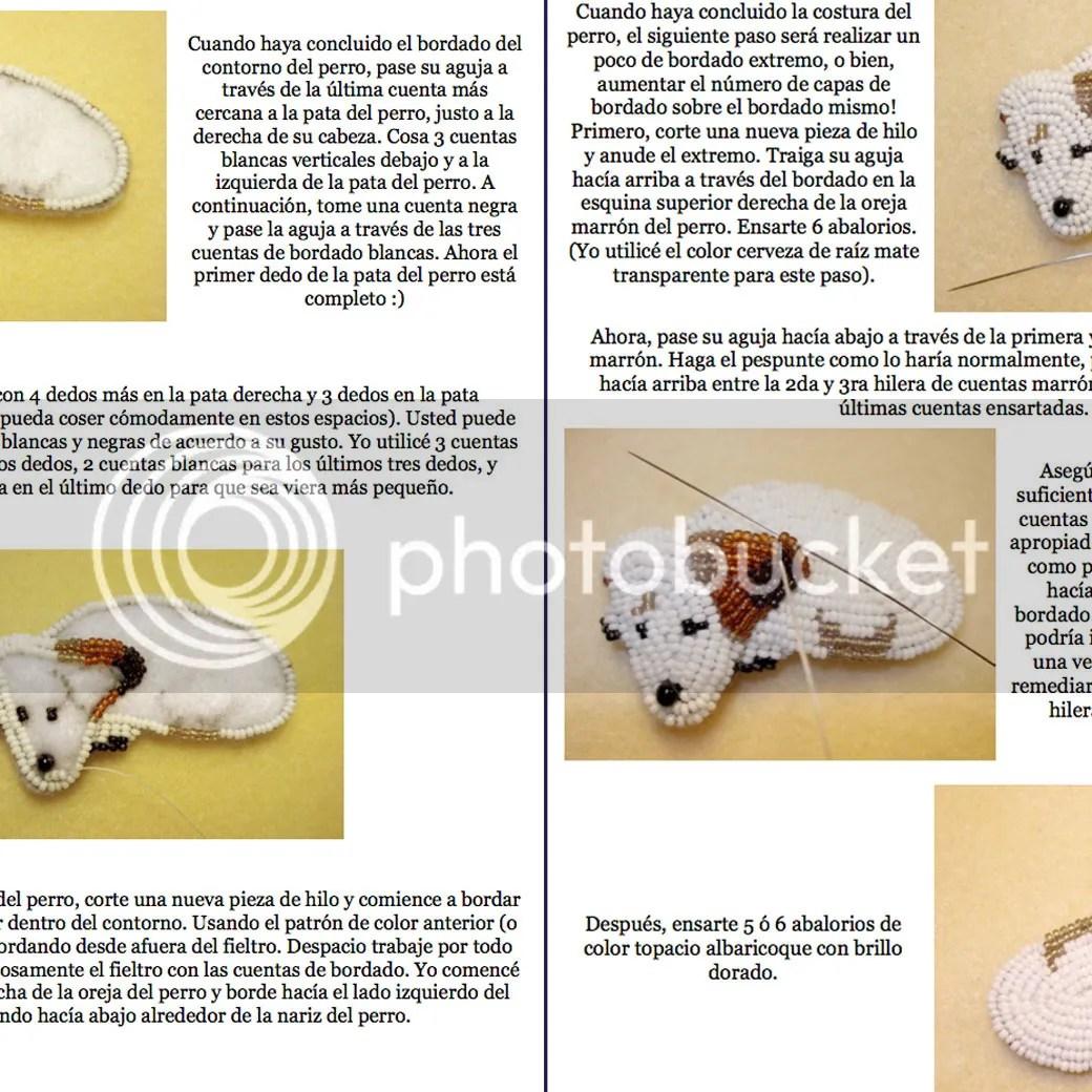 PDF: JACK RUSSELL Terrier Tutorial de bordado con cuentas del prendedor o pendiente de perro Etsy joyeria bead embroidery pattern patron en espanol
