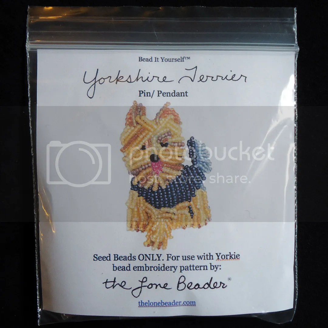 Yorkshire Terrier jewelry etsy Yorkie dog beading pattern bead embroidery kit seed beads