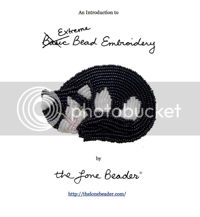 extreme basic bead embroidery tutorial master class etsy beader beadwork beading cat pin