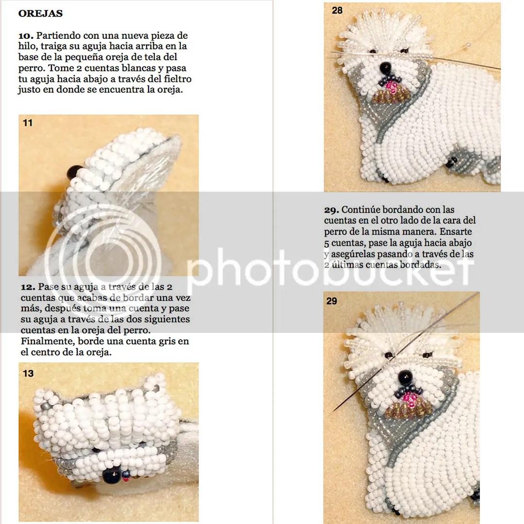 PDF: WESTIE Tutorial de bordado con cuentas del prendedor o pendiente de perro - West Highland White Terrier  - Etsy