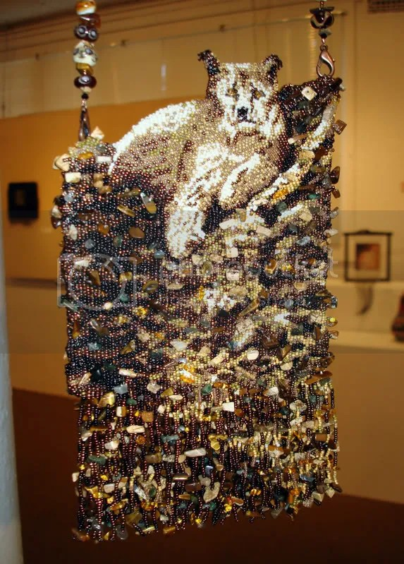 Bead International Lone Beader 2008 Dairy Barn Arts Center Athens OH beadwork beading seed beads