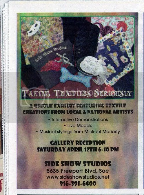 Taking Textile Art Exhibit Seriously Sacramento CA News Review Lone Beader Boston pop artist bead embroidery