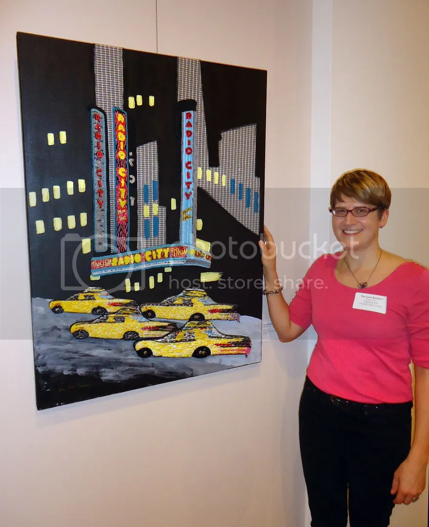 Cambridge Art Association 14th National Prize Show Beadwork on canvas Radio City Music Hall painting boston artist the lone header