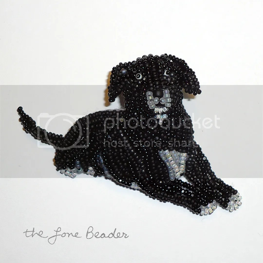 beaded pit bull dog pin pendant bead embroidery beads etsy custom akc