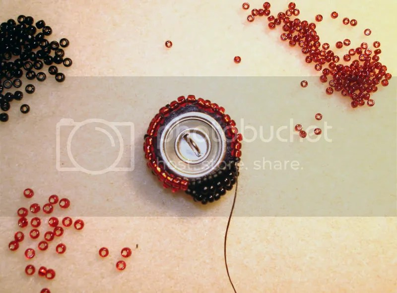 beaded button bead embroidery how-to sewing etsy thelonebeader craft beadwork Boston