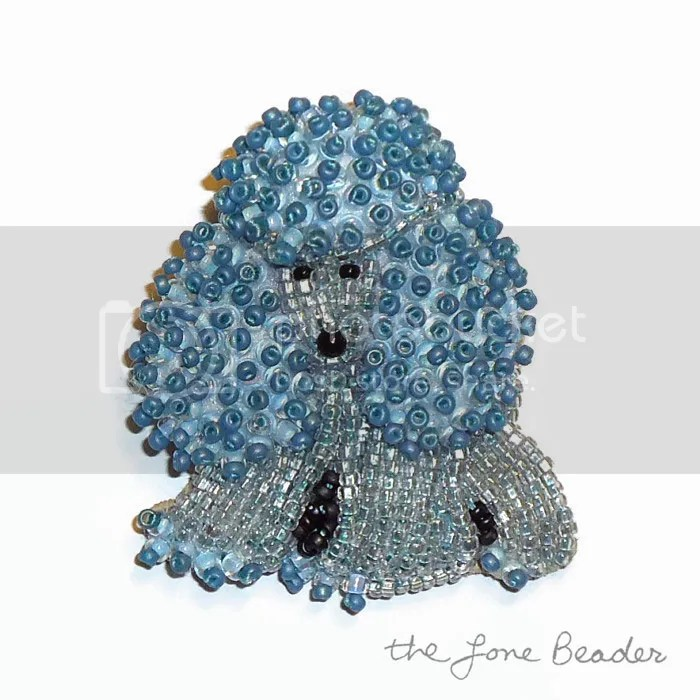 blue beaded miniature poodle pin pendant keepsake pet memorial gift etsy