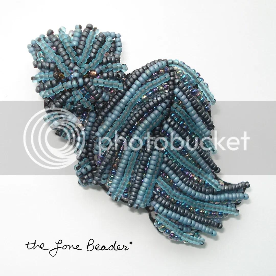 Rare Blue Persian Beaded Cat Pin Pendant Bead Embroidery Etsy Beadwork