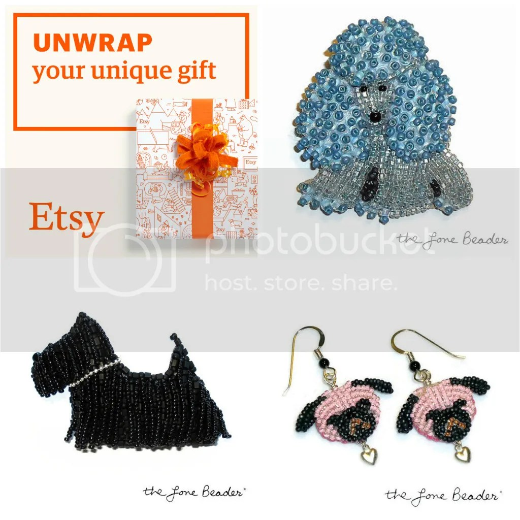 Black Friday Sale Etsy Holiday Gifts Shopping Beadwork Beads Dog Jewelry Poodles Pug