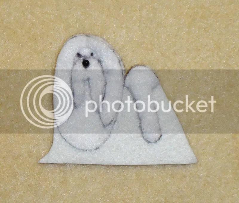 bead embroidery artist felt dog Maltese shape Shih Tzu etsy beading beadwork