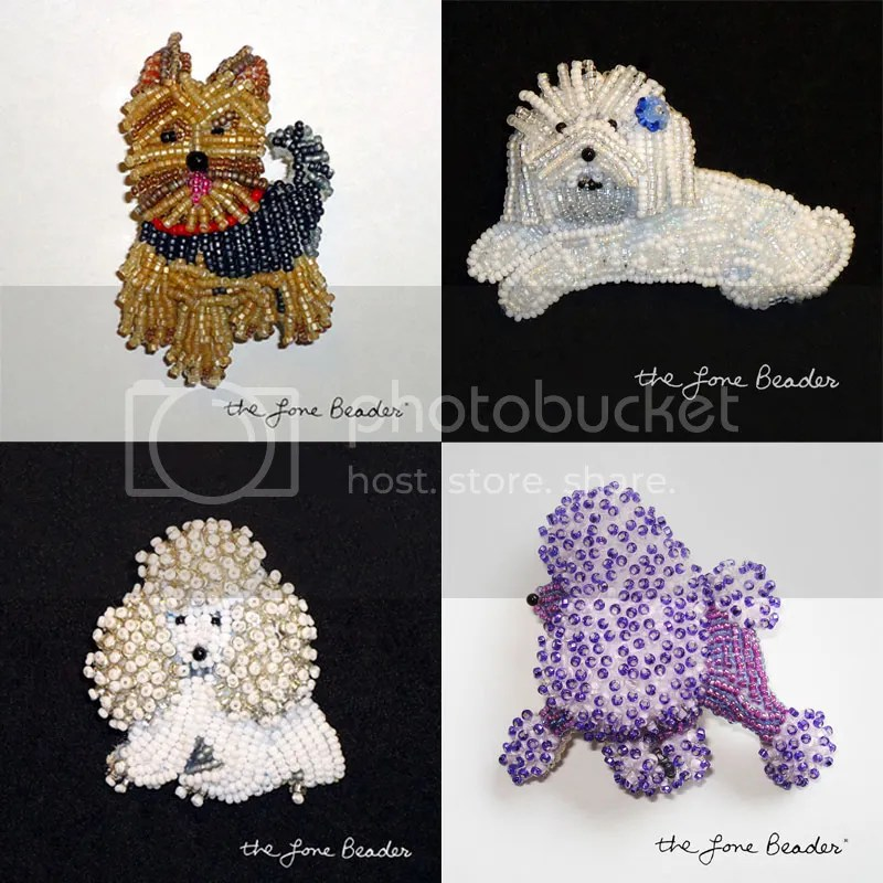 beaded dog jewelry for humans beadwork bead embroidery poodle westie yorkie etsy