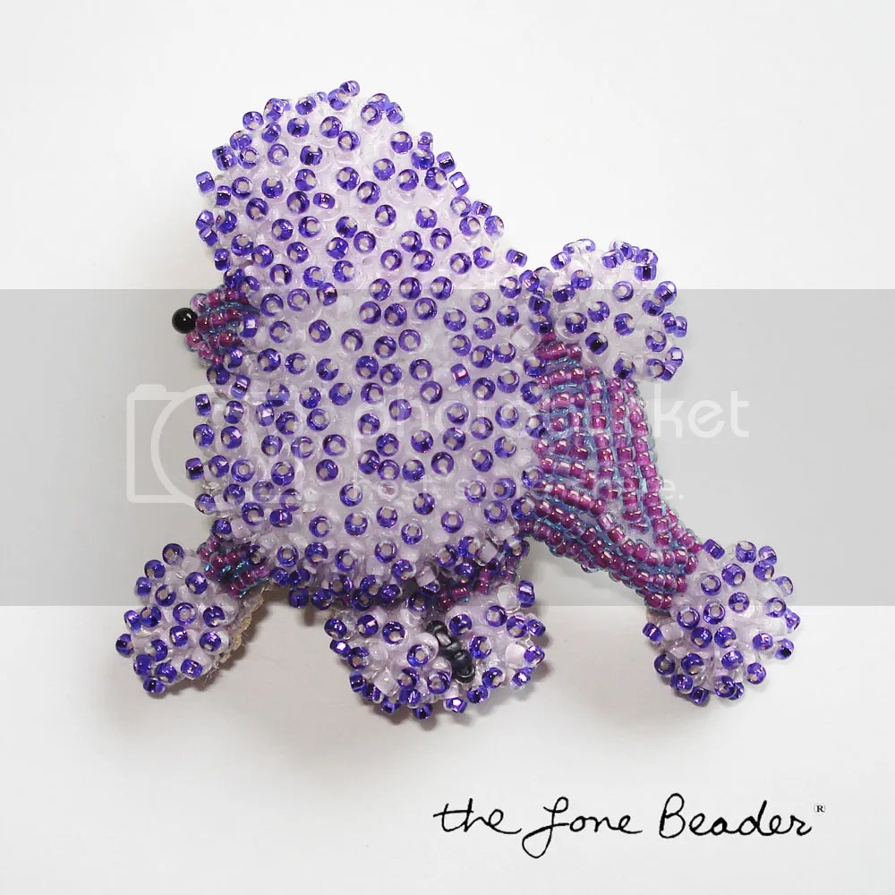 Beaded Purple Miniature Poodle Pin/ Pendant on Etsy
