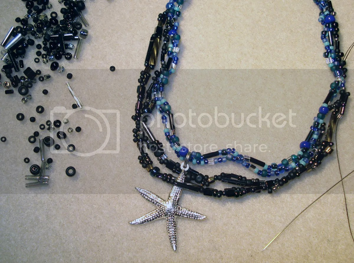 beaded beadwork BP oil spill starfish trapped dead freeform peyote etsy thelonebeader artbeads.com