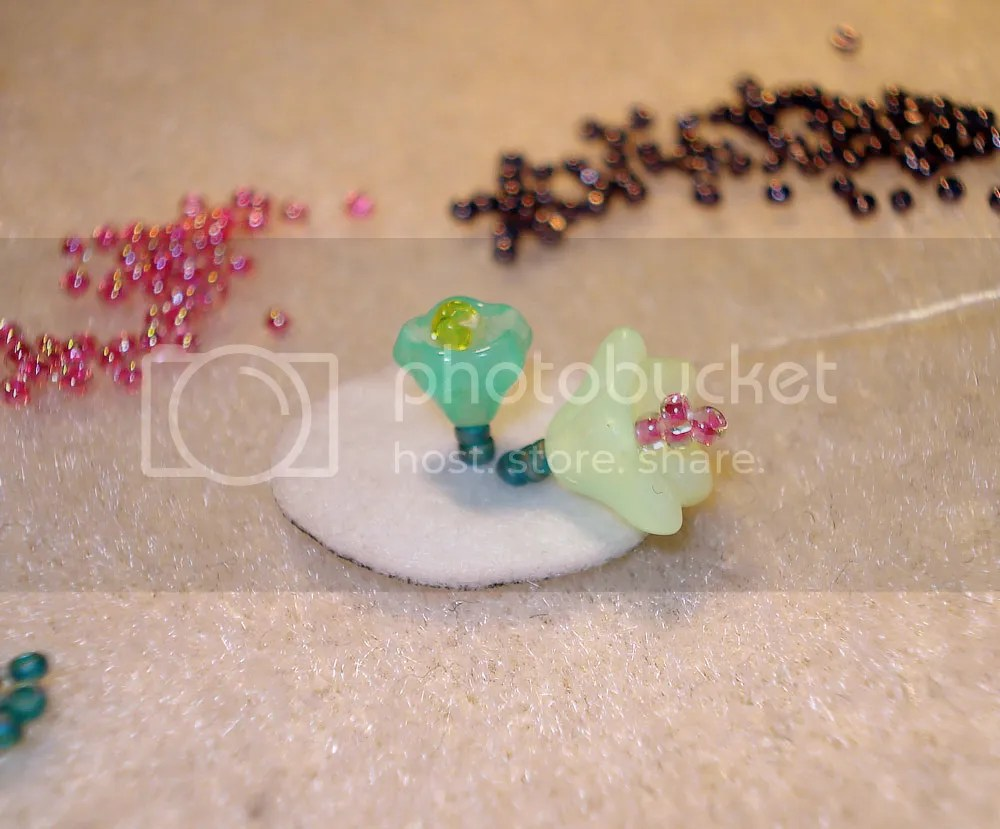 Czech glass beads Artbeads.com bead embroidery patera frame bracelet findings beadwork beaded flowerbed flower garden