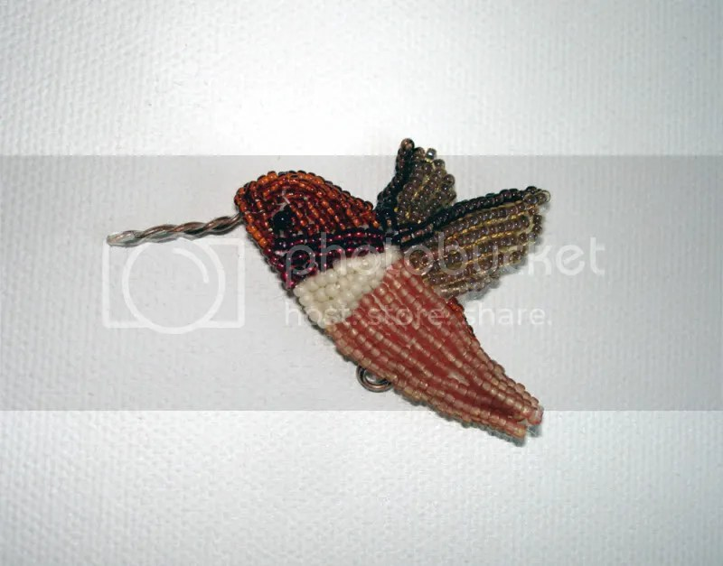 beaded bird art bead embroidery artist beadwork tufted titmouse pin painting