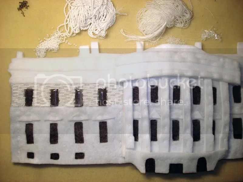 beaded White House painting Barack Obama Washington DC pop art bead embroidery beading blog