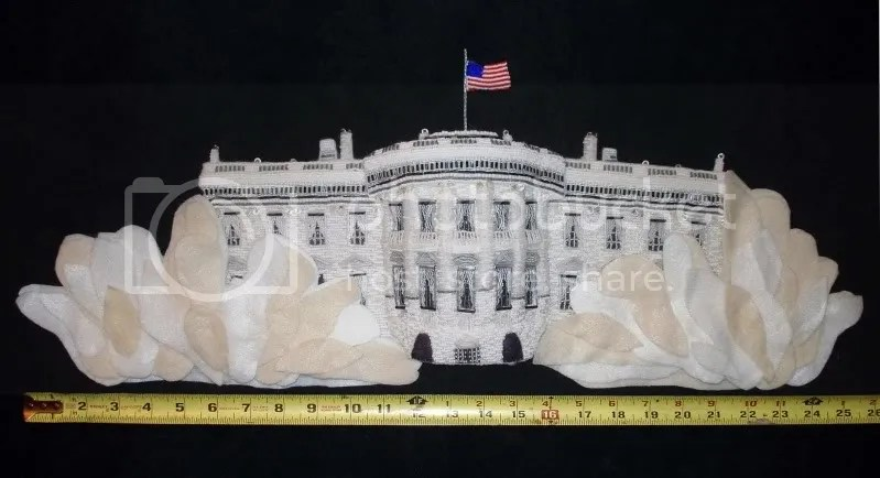 beaded White House east west wing Barack Obama pop art beadwork bead embroidery blog