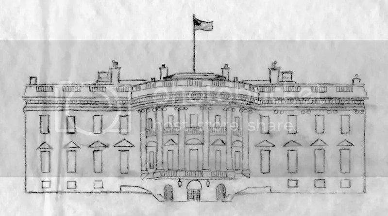 Barack Obama White house drawing sketch pop art bead embroidery beading blog wordless wednesday