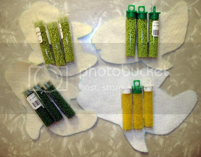 Beaded Beatles Yellow Submarine Sea Whales seed bead embroidery Pop art shark Jaws film