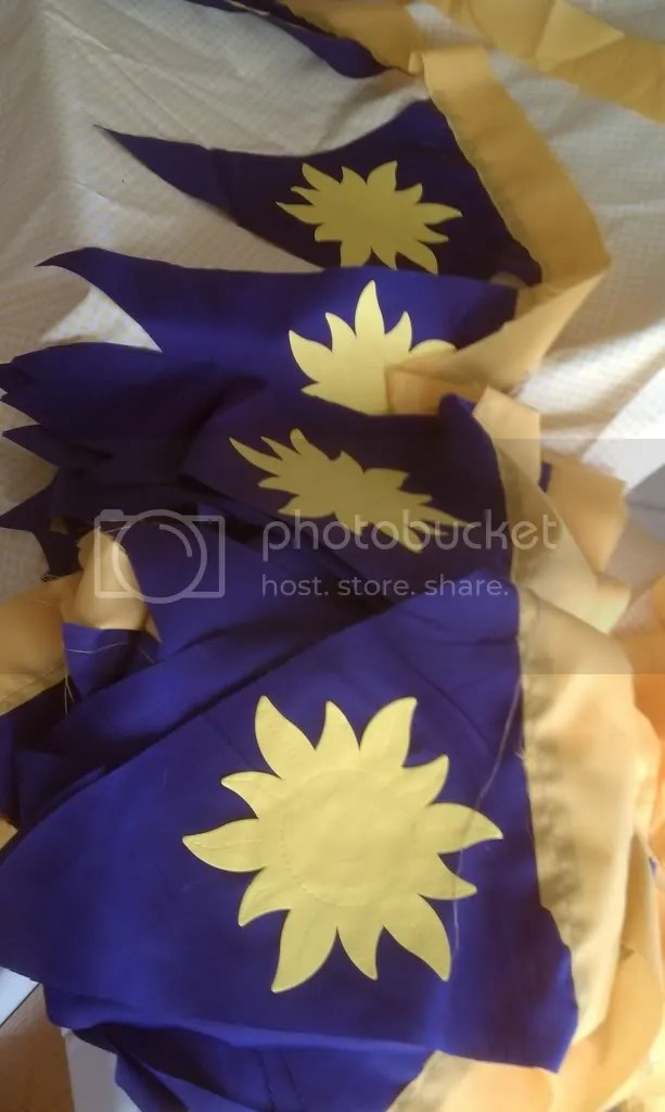 Tangled Pennant Flags