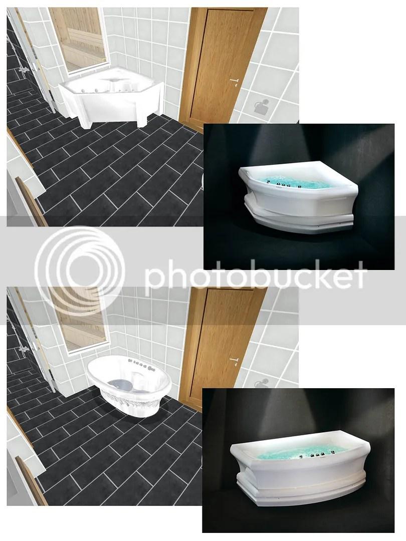 Badekar pÃ¥ badet og skifer – nr14 interiørhjelp