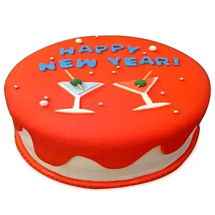 Happy New Year Cake 1kg   Gift Happy New Year Cake 1kg   Ferns N Petals Happy New Year Cake 1kg