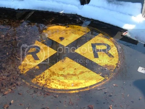 street signs submerged
