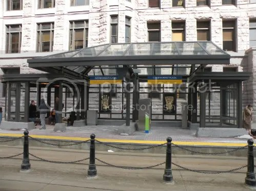 shelter at Government Plaza station