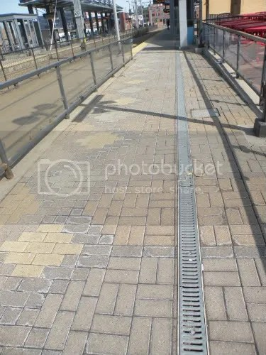 platform floor at the Metrodome station