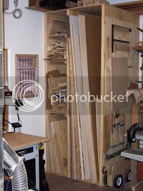 Vertical Plywood Sheet Storage Rack