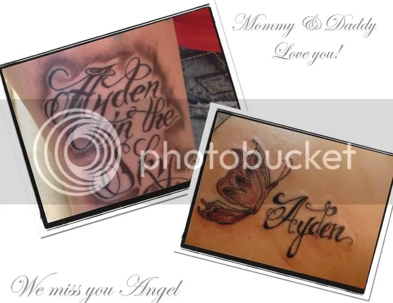 Our Memorial Tattoos for our precious son
