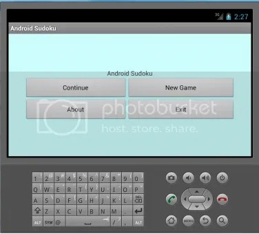 The GUI for a tutorial app with Title Text and Four Buttons