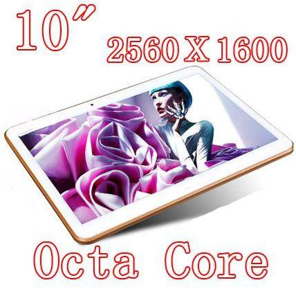 Планшетный ПК OEM 10,1/octa 2560 X 1600 DDR3 4 32 8.0MP 3 G sim Wcdma + Gsm android4.4