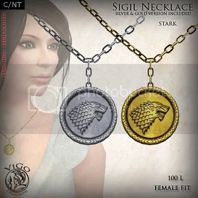 Sigil Necklace Stark